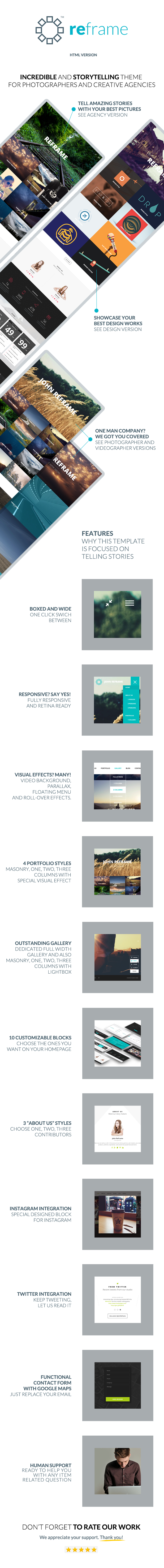 ReFrame - Responsive Photography HTML Template