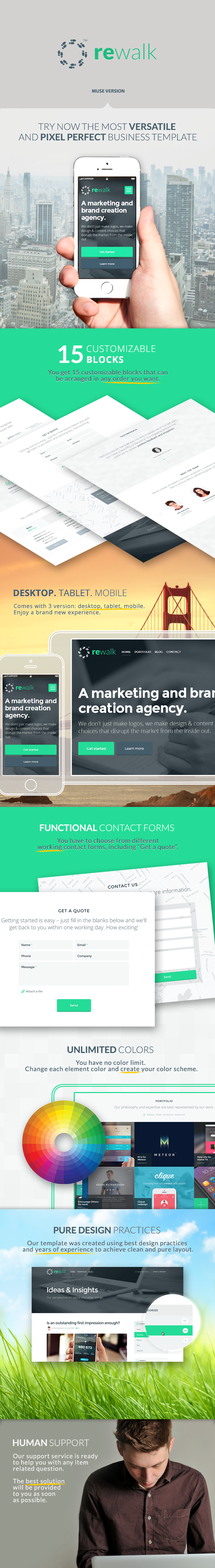 ReWalk - Business Adobe Muse Template