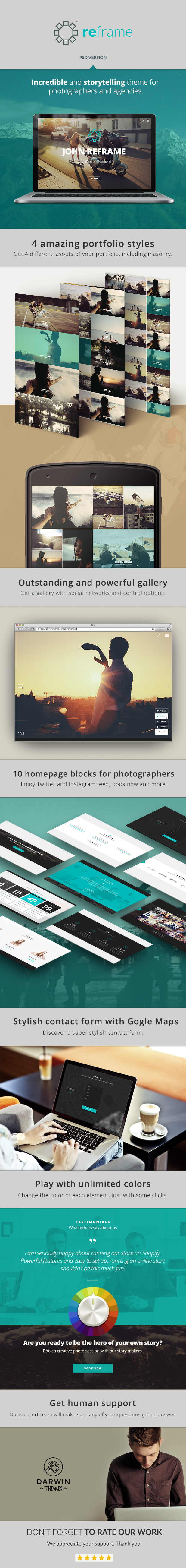 ReFrame - Photography PSD Template
