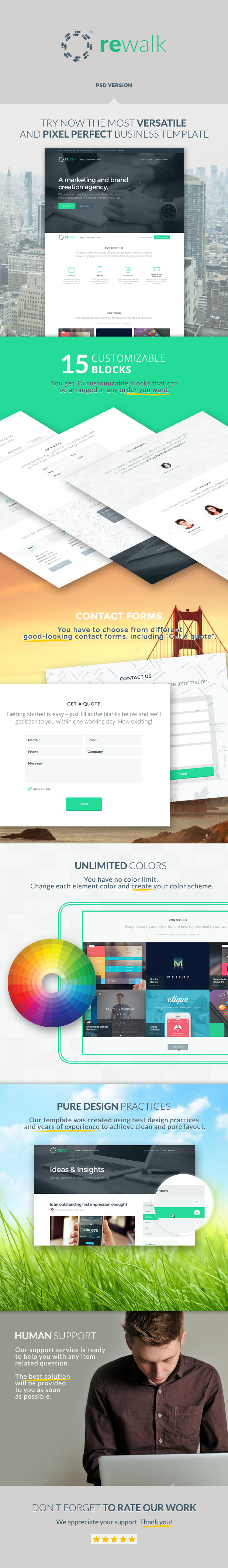 ReWalk - Business PSD Template