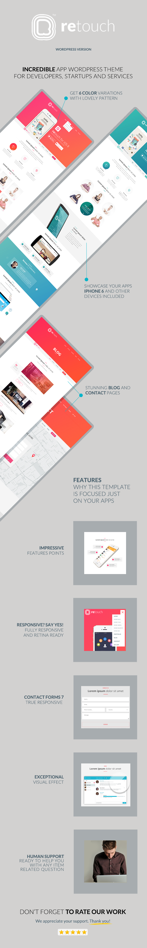 ReTouch - App WordPress Theme - 3